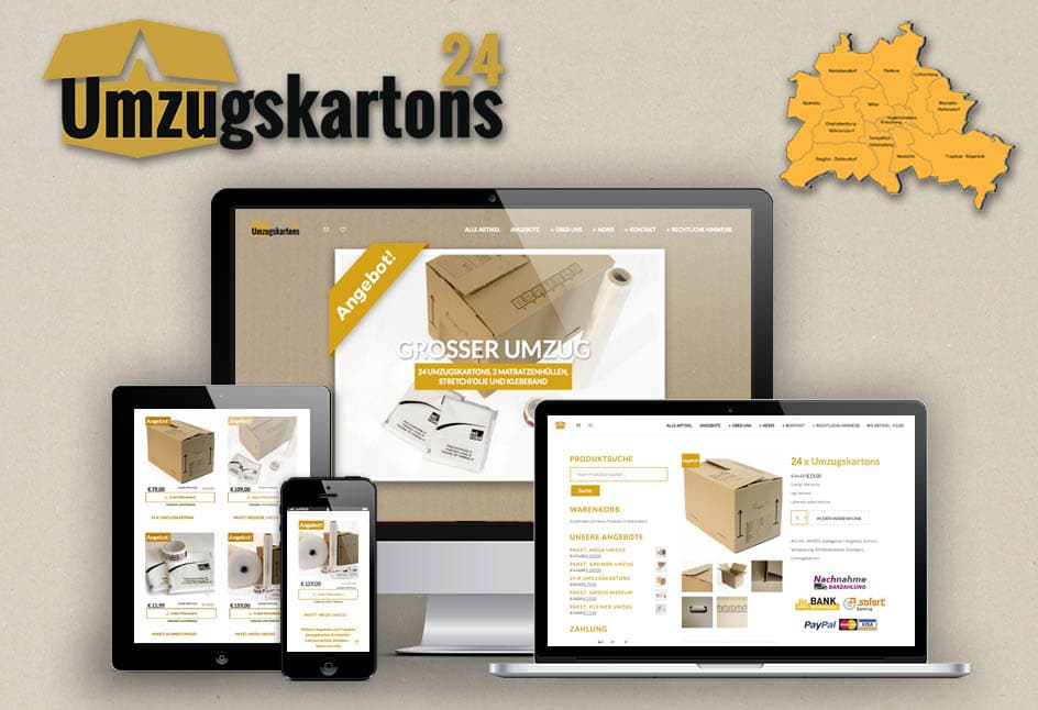 Online Shop für den Umzug